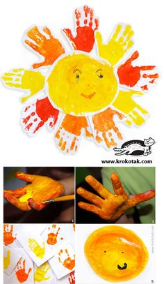HANDPRINT Sun craft for kids