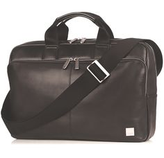 """Knomo 15"""" Newbury  The Newbury top zip briefcase provides a spacious main compartment to hold a 15"""" laptop #briefcase #style"""