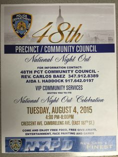 National Night Out~ Free Event!