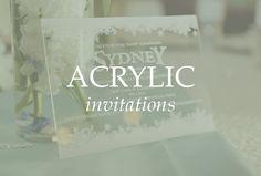 Acrylic Wedding Invitations, Custom Invitations, Prints