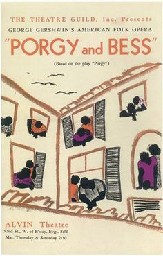 Porgy and Bess Broadway Poster