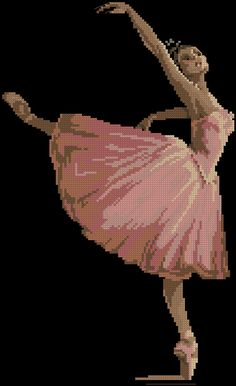 The Passion of Dance 123 Cross Stitch, Cross Stitch Boarders, Cross Stitch For Kids, Cross Stitch Designs, Cross Stitching, Cross Stitch Embroidery, Cross Stitch Patterns, Seed Bead Projects, Tapestry Crochet Patterns