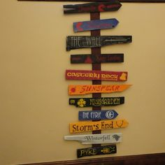 Seven Kingdoms of Westeros via Etsy..... I am not buying this, I'll freaking make this!!!! <3