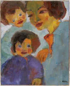 amare-habeo: Emil Nolde - Peter and Hans, 1949 Oil on Canvas Beck & Eggeling Düsseldorf, Germany