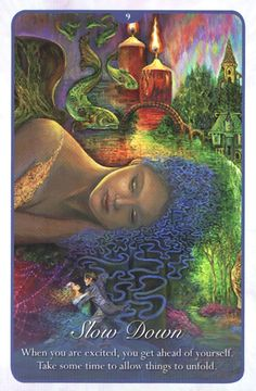 """""""9 Slow Down"""" Oracle Cards Whispers of Love par Josephine Wall and Angela Hartfield"""