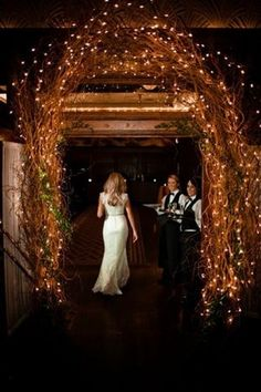 Such a lovely entrance to the wedding reception!