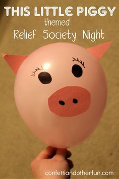 """LDS Church- """"This Little Piggy"""" Relief Society Night"""
