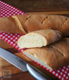 Homemade Crusty Bread - trust us! You can make this at home with ease. It's sooooo good!