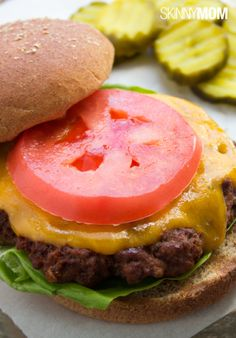 Take the cover off the grill and throw on the burgers.   Here is a deliciously simple cheeseburger recipe that you will love!