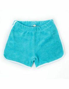 Lichtblauw terry Arthur shortje - Lily-Balou - 19,95 euro