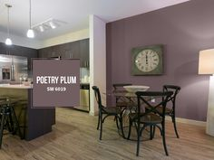PERSONALIZED ACCENT WALLS Live life in color with personalized accent walls. Plum Living Rooms, Living Room Decor, Bedroom Color Schemes, Bedroom Colors, Red Feature Wall, White House Interior, Basement Guest Rooms, Wood Bedroom Sets, Dining Room Walls