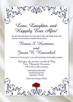 Printable Enchanted Rose Beauty And The Beast Wedding Invitation Be Our Guest Wedding Invitation Calligraphy Wedding Invite – Invitation Ideas for 2020 Wedding Invitation Card Wording, Wedding Card Wordings, Wedding Card Quotes, Printable Wedding Invitations, Digital Invitations, Invitation Design, Invitation Ideas, Invitation Templates, Wedding Invitation Content