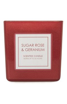 Christmas is in the air with this Primark sugar rose and geranium votive candle.