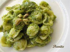 Orecchiette al Pesto di Pistacchi- Pistachio Pesto! Part of delicious sicilian cuisine!