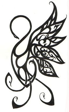 swan tattoo design, something I would highly consider getting since it is my mothers maiden name