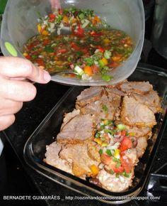 Cozinhando com Bernadete: LAGARTO AO VINAGRETE