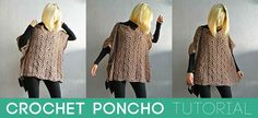 Crochet Poncho Tutorial- Extraordinarily, stylish and comfy, this crochet poncho will keep you cozy anytime of the year. When you're going for a work, this poncho will be a perfect to spice up your outfits.