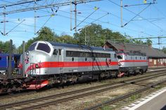 NOHAB Diesel-electric locomotive from EMD F7 series in Sweden