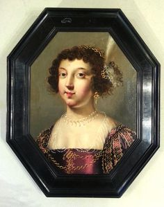 """#Portrait of """"an Elegant"""", attributed to Jean #Ducayer, French painter, active during the first half of the 17th century. #Oil on #oak panel parquet. Frame of the #17th century. For sale on Proantic by ACIES HUMANA."""