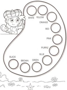 Printable Activities Learn Colors 14 is part of English activities - English Activities For Kids, English Lessons For Kids, Kids English, English Tea, English Primary School, English Classroom, Teaching English, Preschool Worksheets, Preschool Learning