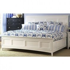 Kentwood White Panel Bed