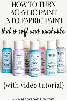 Best Fabric Paint, Acrylic Paint On Fabric, Painting Fabric Furniture, Fabric Wall Decor, Fabric Paint Designs, Framed Fabric, How To Dye Fabric, Fabric Art, Diy Painting