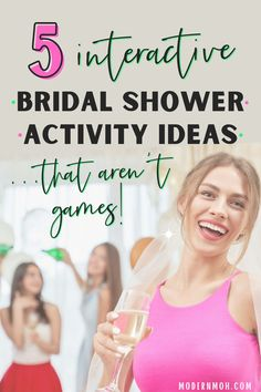 Throw a one-of-a-kind bridal shower for your bestie by incorporating any of these alternative bridal shower activities into the mix! #bridalshoweractivities #bridalshoweractivitiesnogames #ModernMaidofHonor #ModernMOH Bridal Shower Activities, Wedding Shower Games, Wedding Showers, Wedding Images, Wedding Ideas, Wedding Stuff, Wedding Gifts, Wedding Planning, Good Marriage