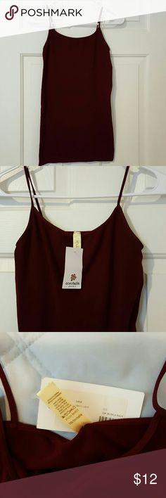 NWT Long seamless cami, dark burgundy NWT NWT Long seamless Cami, dark burgundy, size small, can be worn under a shirt or by itself , 92/8 nylon spandex Nikibiki Tops