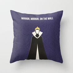 Disney Villain - Evil Queen Throw Pillow by Tessa Simpson Disney Home Decor, Disney Diy, Disney Dream, Disney Love, Disney Magic, Disney Throw Pillows, Fairytale Bedroom, White Room Decor, Disney Bedrooms