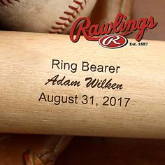 Create lasting Wedding memories with the Wedding Party Rawlings® Engraved Baseball Bat. Find the best personalized wedding gifts at PersonalizationMall.com