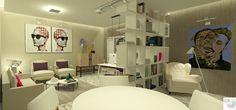 Escritório da Empresária, vista do lounge. Projeto criado pela Rangel Produção Artísticas e Design de Interiores. (rangel@rangelproducoesedesignde interiores.com)