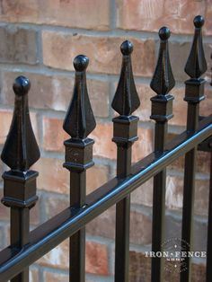 Closer View of the Solid Iron Welded-on Finials (Traditional Grade)