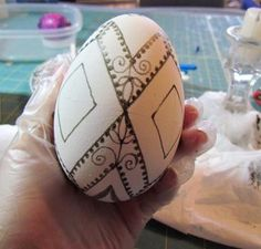 ukrainian egg tutorial; would love to try zentangling on these