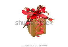 Golden Gift Box Golden Red Ribbon: stock fotografie (k okamžité úpravě) 546212908 Red Ribbon, Box, Gift Wrapping, Gifts, Photography, Image, Red Lace, Paper Wrapping, Fotografie