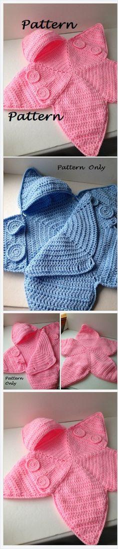 Sample - Crochet Child Star Bunting Sample - Child Bag Bunting - Crochet Sample - Immediate Obtain Baby Patterns, Crochet Patterns, Crochet Ideas, Knitting Patterns, Baby Bunting Bag, Vestidos Bebe Crochet, Bunting Pattern, Double Crochet Decrease, Baby Cocoon