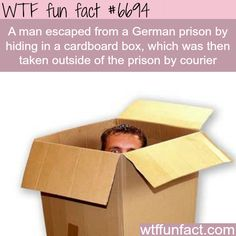 Man escaped prison by mailing himself out - WTF fun fact