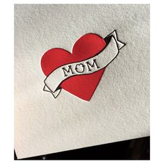 Hand-drawn tattoo heart for mom on the press this afternoon. #letterpress #textlesswritemore
