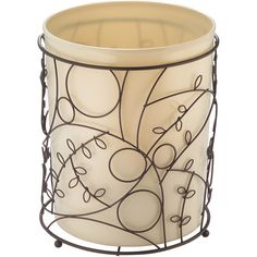 InterDesign Twigz Waste Can, Vanilla/Bronze