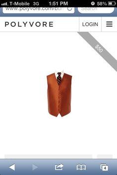 Burnt Orange Vest