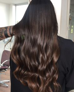 90 hottest chocolate brown hair colors for long hair in 2019 page 49 Brown Hair Balayage, Brown Hair With Highlights, Brown Blonde Hair, Dark Hair, Ombre Hair Color, Brown Hair Colors, Mocha Hair, Chocolate Brown Hair Color, Chocolate Hair