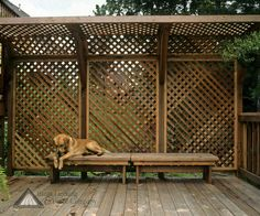 Picture of deck privacy screen. For back patio.