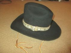 914b93e968619 (eBay Ad) MENS VINTAGE SHEPLERS RESISTOL BLACK FELT WESTERN HAT