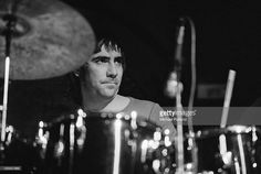Drummer Keith Moon (1946 - 1978) performing with English rock group The Who, 24th October 1973.