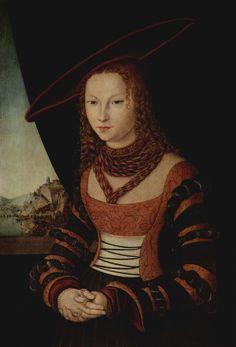 Cranach d. Ä., Lucas: Porträt einer Frau - Gemeinfrei