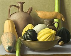 Amy Weiskopf, Still Life with Squash, 1999, oil 16 x 20 inches
