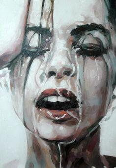 "Saatchi Online Artist thomas saliot; Painting, ""Close up water"" #art"
