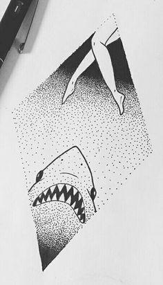 Dotwork Shark!