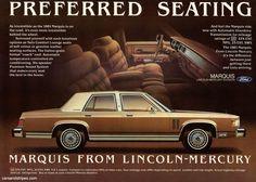 1981 Mercury Marquis - Preferred Seating - Original Ad
