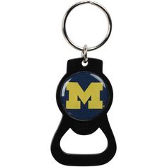 Michigan Wolverines Bottle Opener Keychain - Black