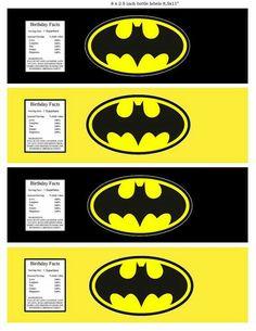 Batman Superhero water bottle label by on Etsy Lego Batman Birthday, Batman Party, Superhero Party, Batman Superhero, Batman Mask, Printable Sticker Paper, Iron Man Birthday, Batman Collectibles, Ninja Party